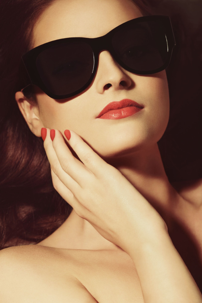 Woman Portrait with Eye Cat Sun Glasses