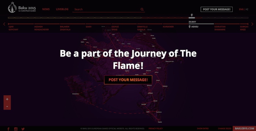 Baku 2015 – Follow the flame