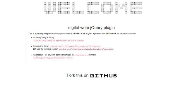 digital write jquery