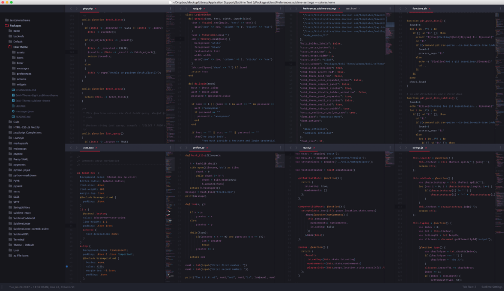 Enki Sublime Text Theme