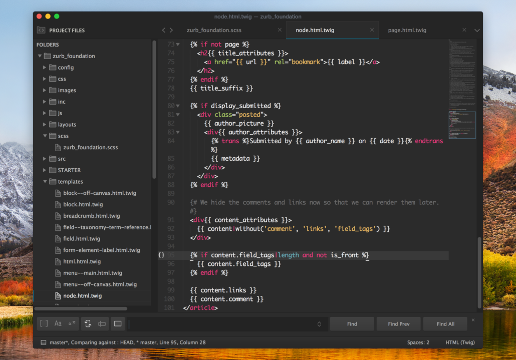 Gravity Sublime Text Theme