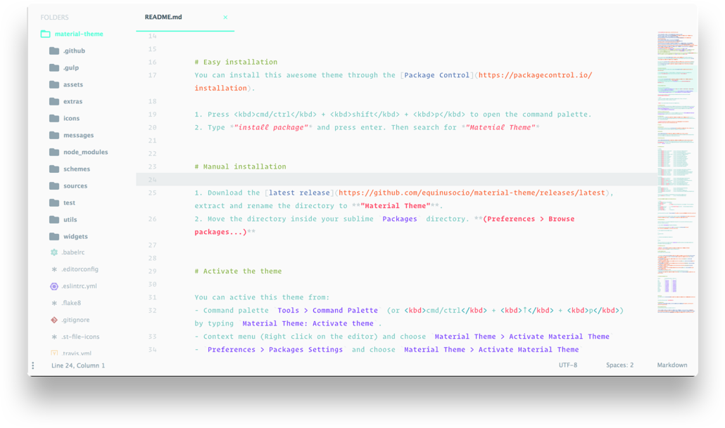 Material Sublime Text Theme