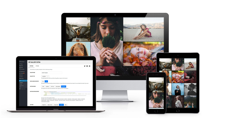 WordPress Gallery Extra Multiple Device