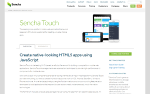 Sencha Touch cross-platform mobile web application framework
