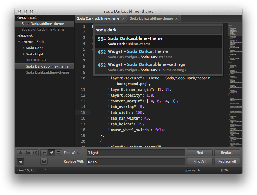 Soda Sublime Text Theme