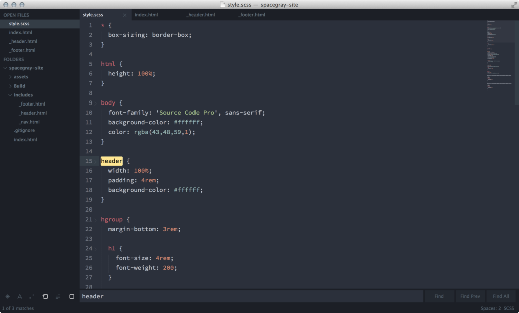 Spacegray Sublime Text Theme